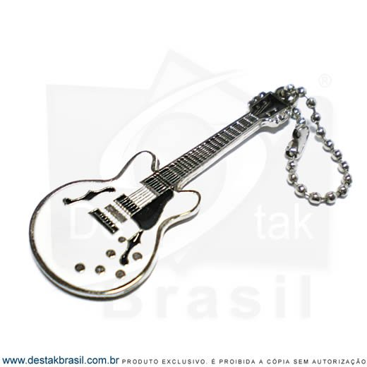 chaveiro personalizado guitarra blues white