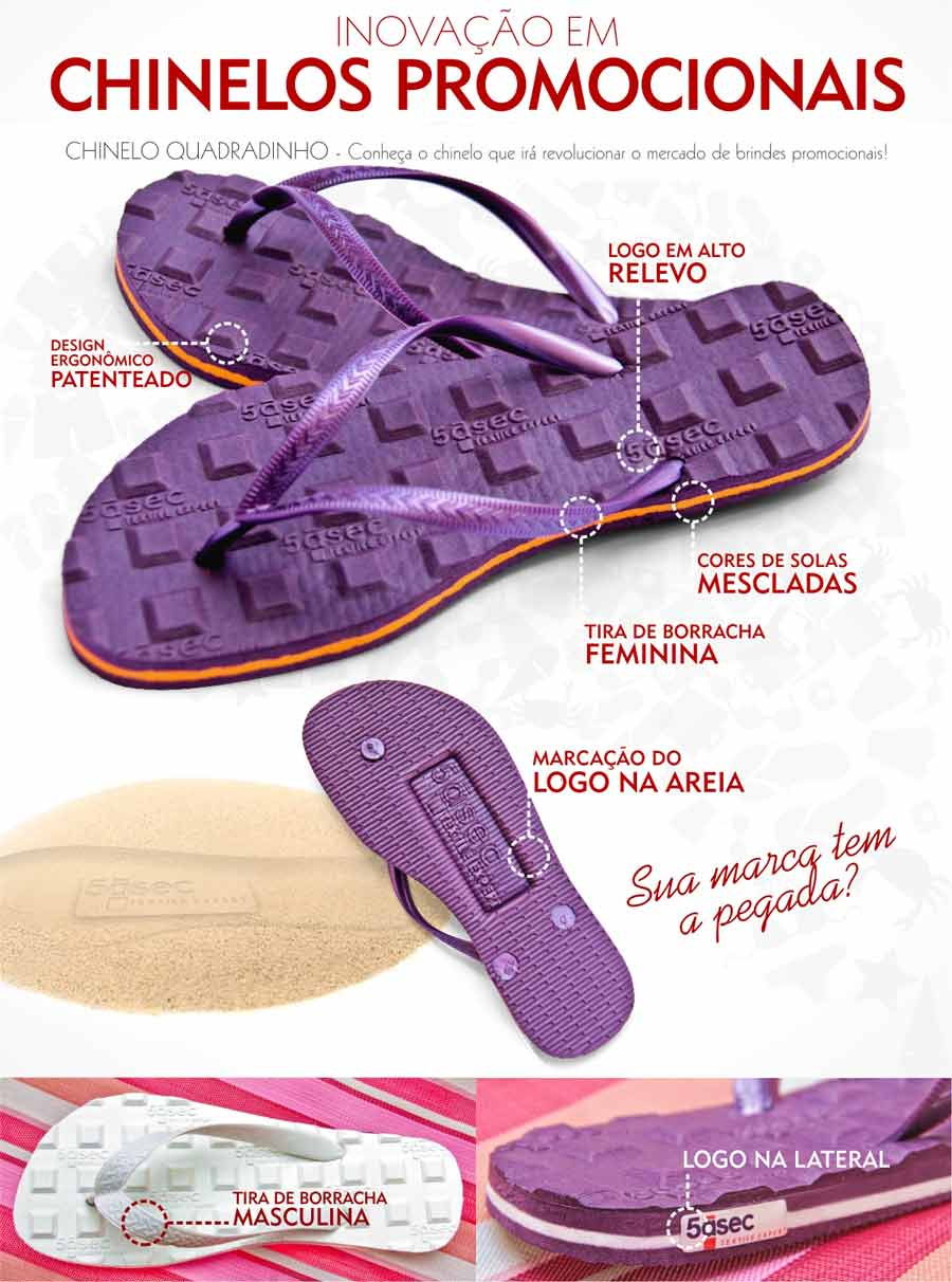 chinelo personalizado massageador