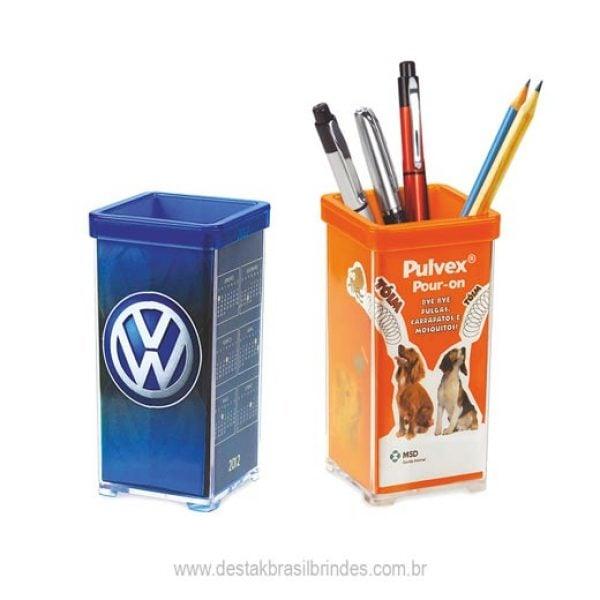 porta caneta personalizado em acrilico